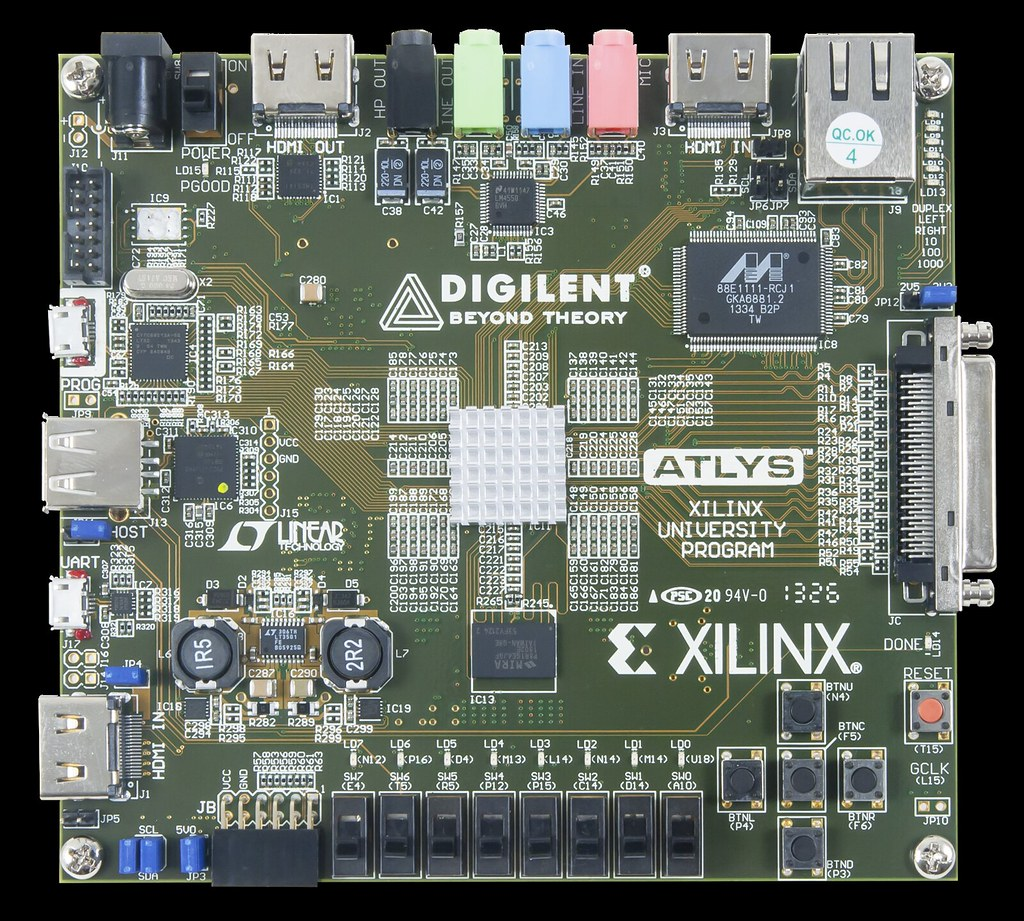 Atlys Spartan 6 Fpga Trainer Board The Atlys Circuit