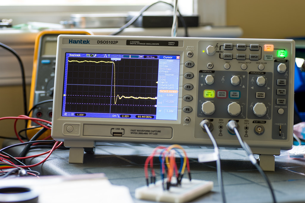 Building A Oscilloscope : Dso p my new oscilloscope it works very well build
