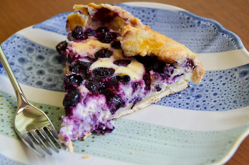 A slice of Blueberry Cheesecake Galette