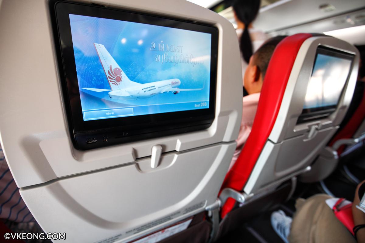 Malindo Air Entertainment Screen