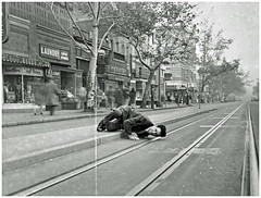 Idol is Idled by Streetcar Strike: 1945