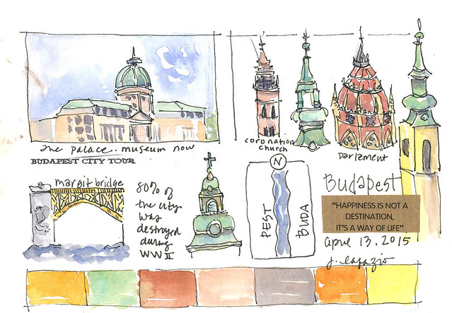 from my sketchbook ~budapest sites