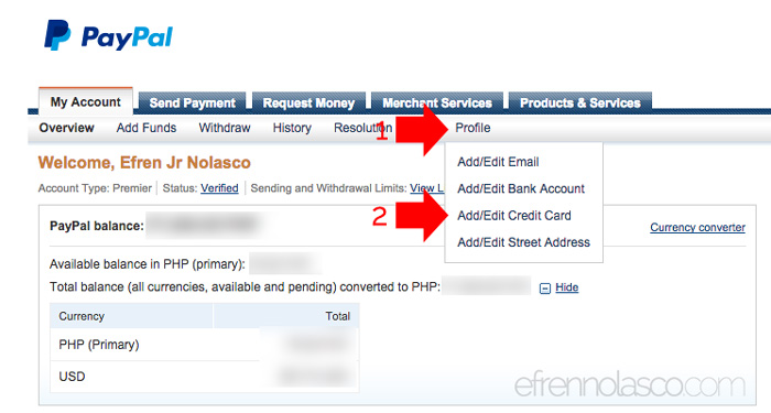 How to link UnionBank EON card to PayPal