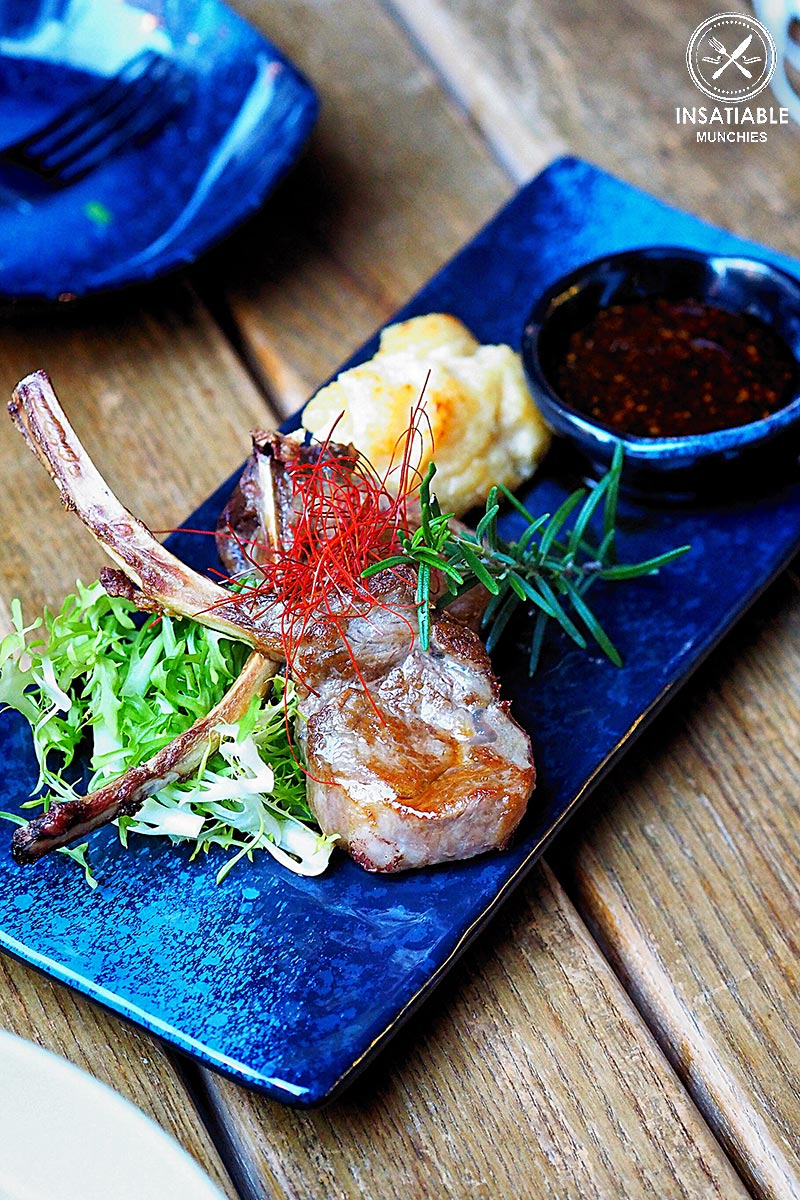 Lamb Cutlet with Sanjoku Sauce and Mentaiko Mash Potatoes