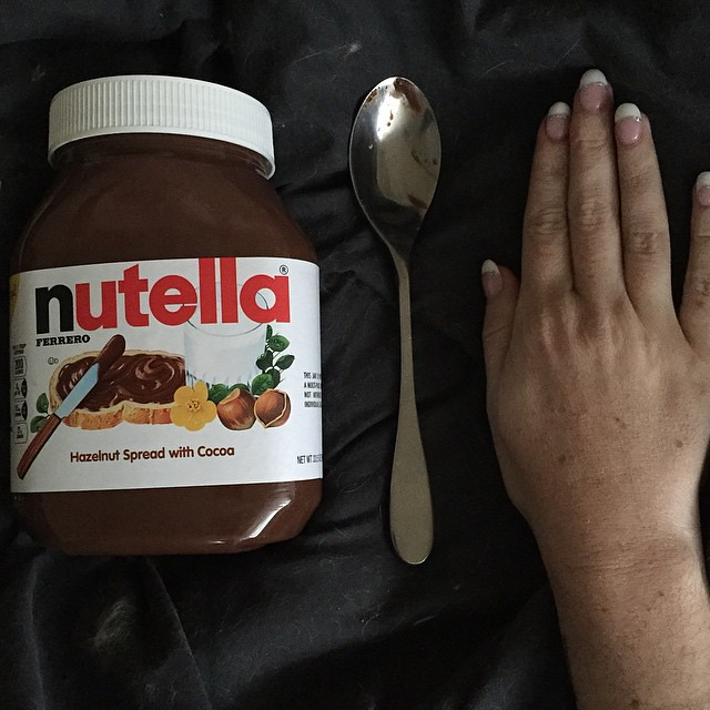 why yes that s a nutella jar as big as my hand i have tin flickr
