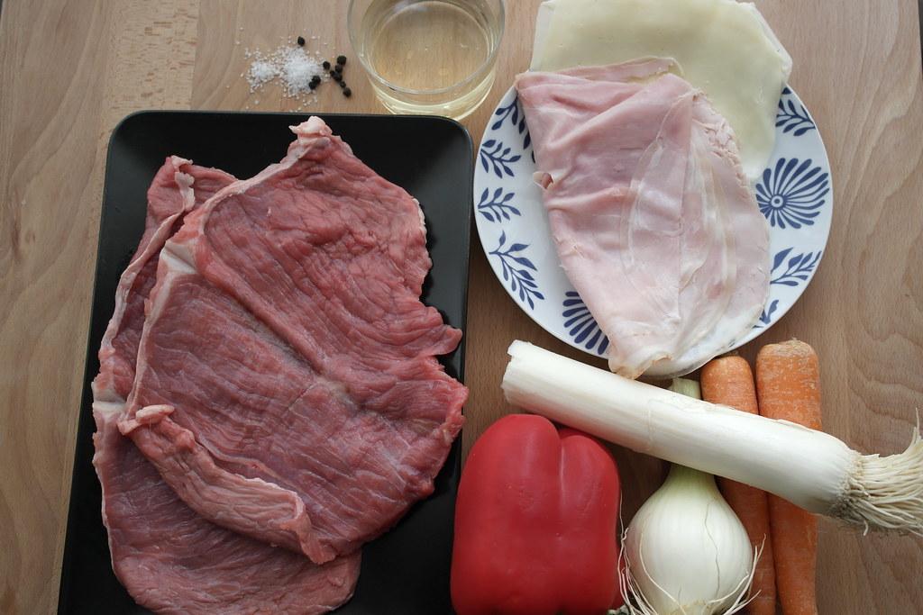 Roti de ternera con jam n y queso c mo preparar un - Como rellenar un redondo de ternera ...