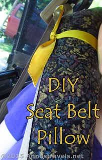 Using the DIY Seatbelt Pillow | by Anne's Travels 4