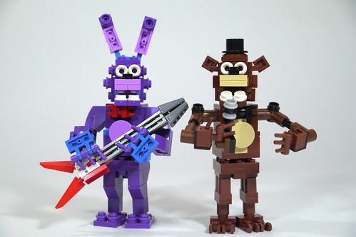 Lego Fnaf Bonnie Amp Freddy See How To Build It Www