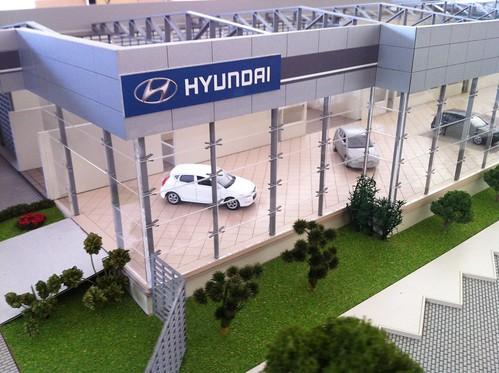 Maquete Concessionária Padrão Hyundai