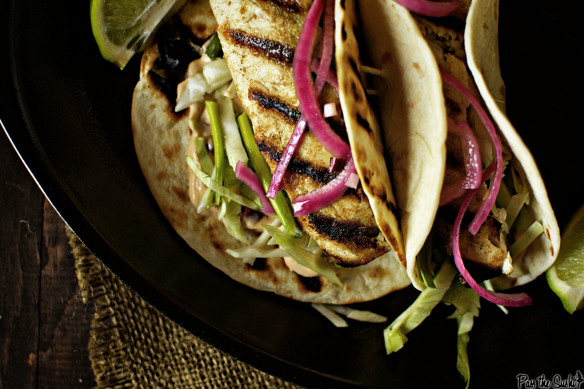Baja Grilled Fish Taco Recipe | GirlCarnivore.com
