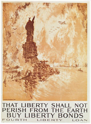 World War II Poster - That liberty shall not perish from the earth