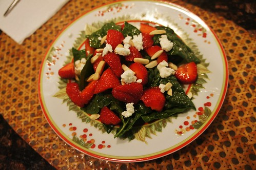 At Home:  Salad With New Jersey Strawberries