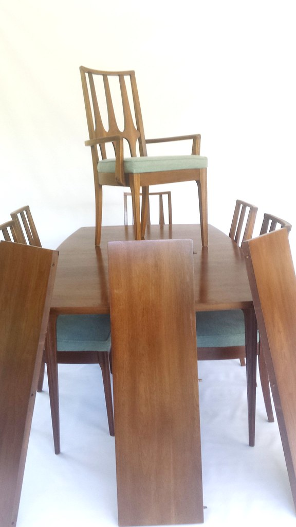 MCM Broyhill Brasilia Dining Table And Chairs (six)