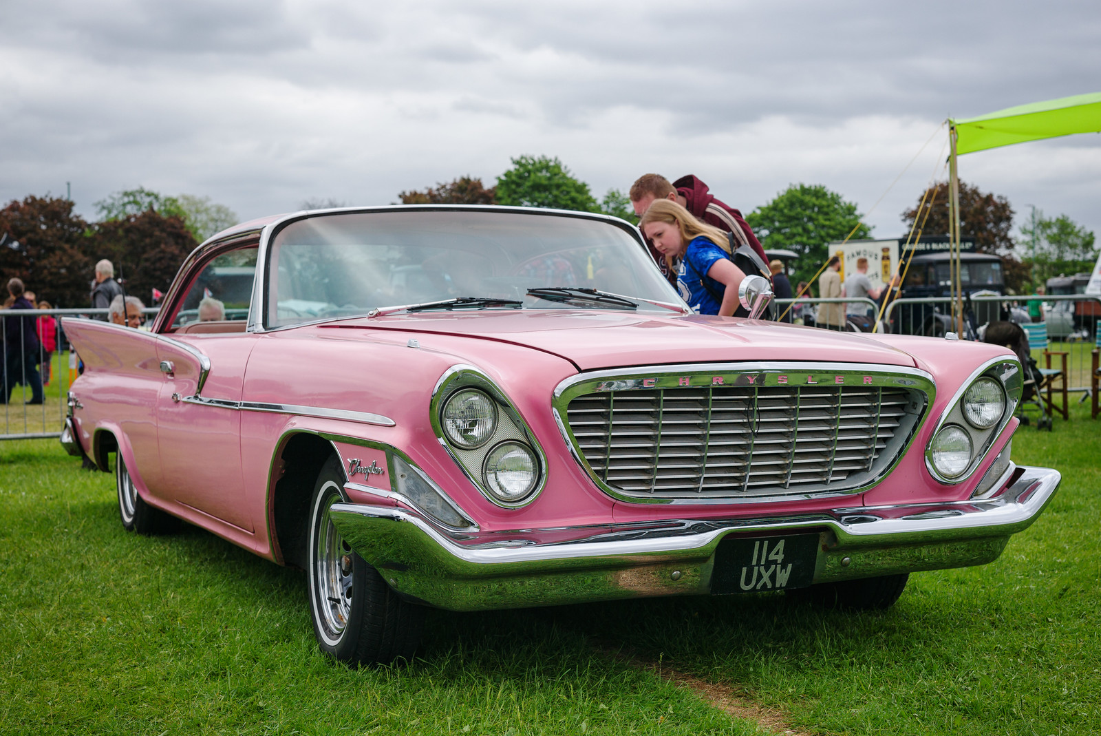 A glance in the pink Chrysler