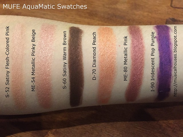 MUFE AquaMatic Swatches Summer 2015 3