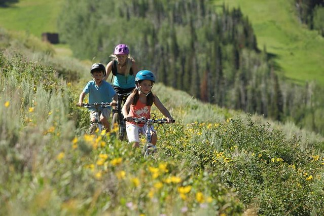 Mountain biking at Park City Mountain Resort