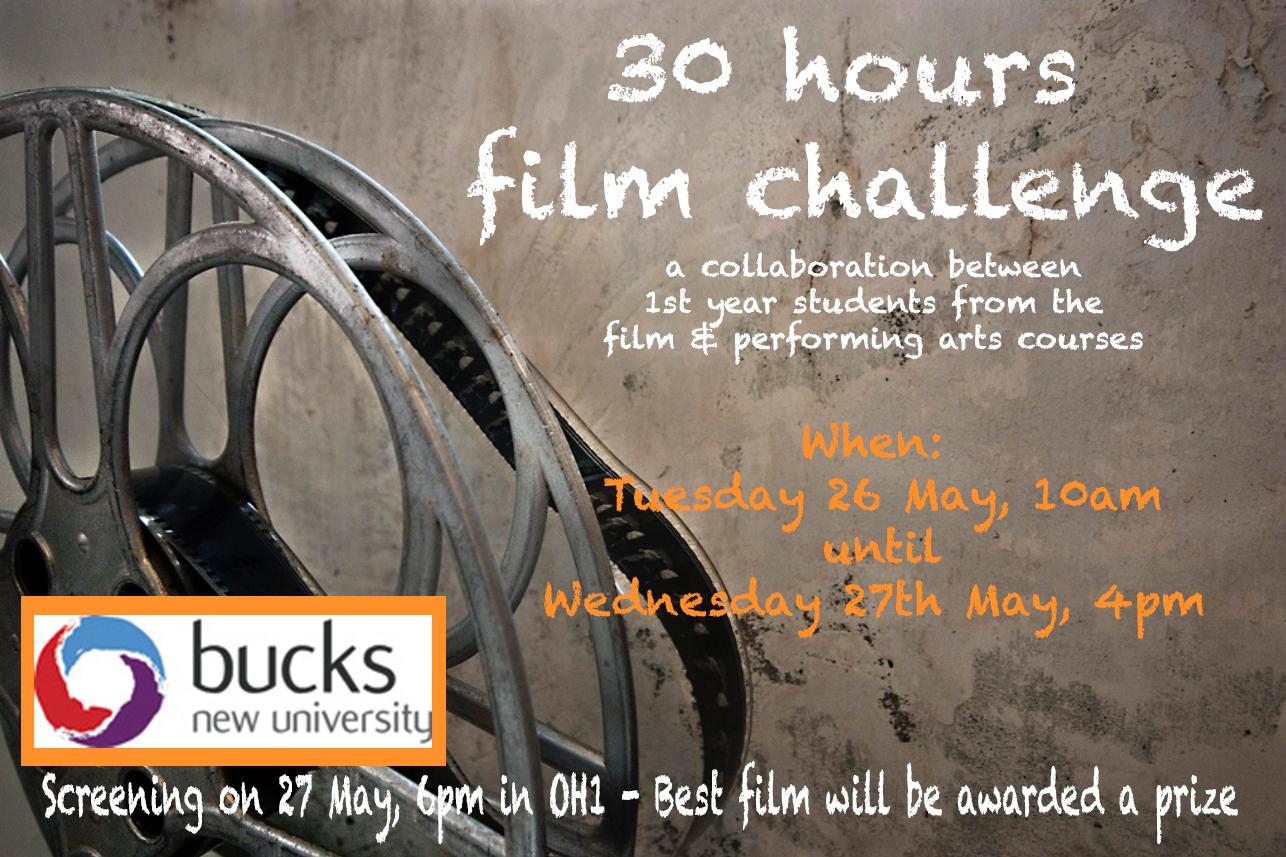 30hrs film challenge flyer