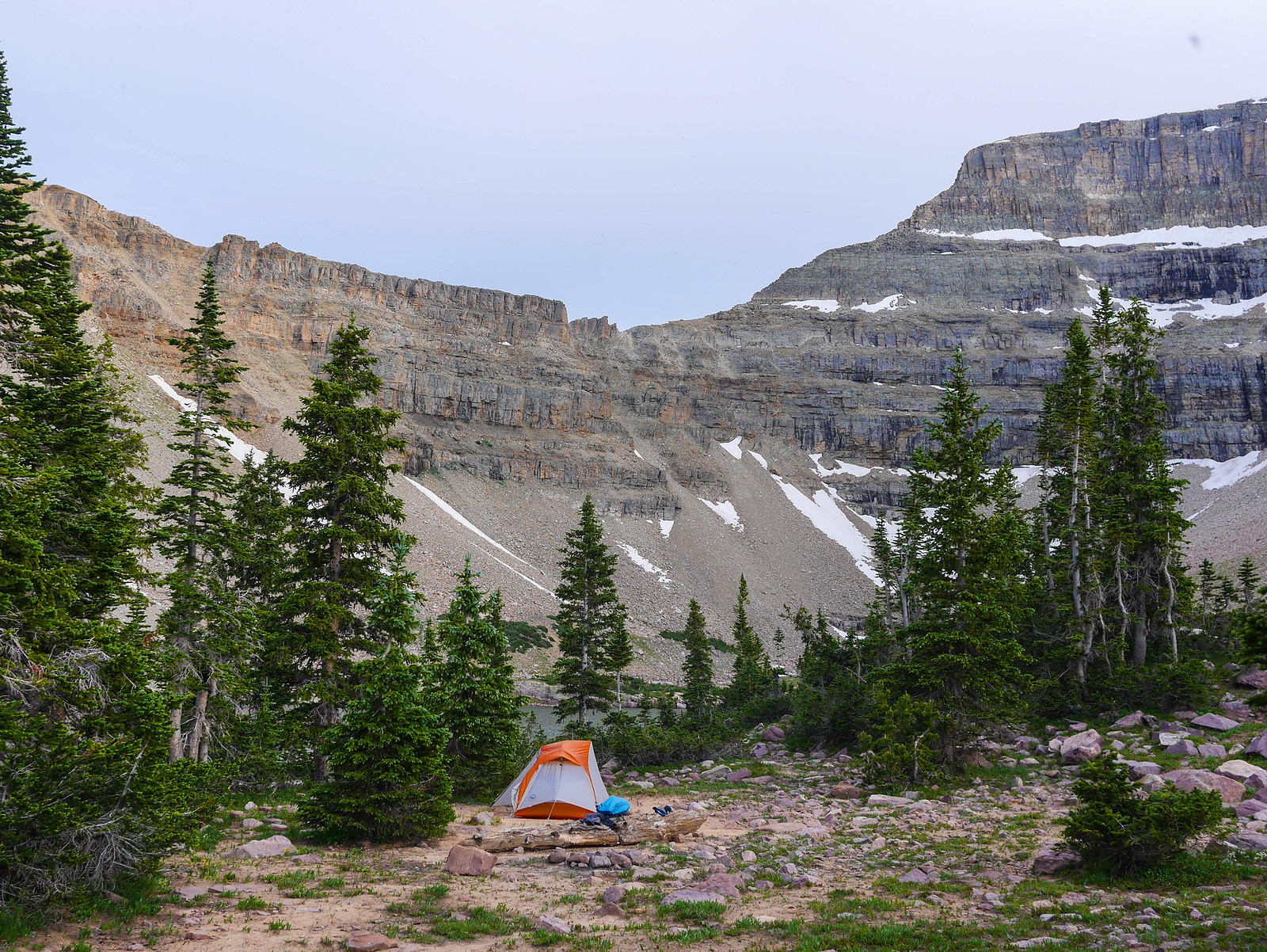 Camp at Amethyst Lake