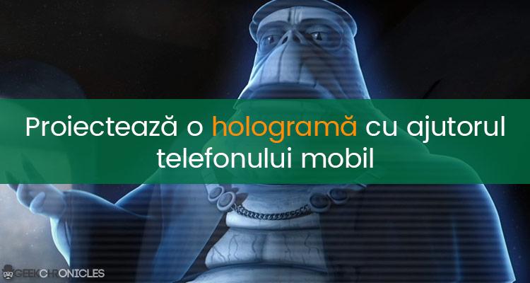 holograma 3d cu telefonul