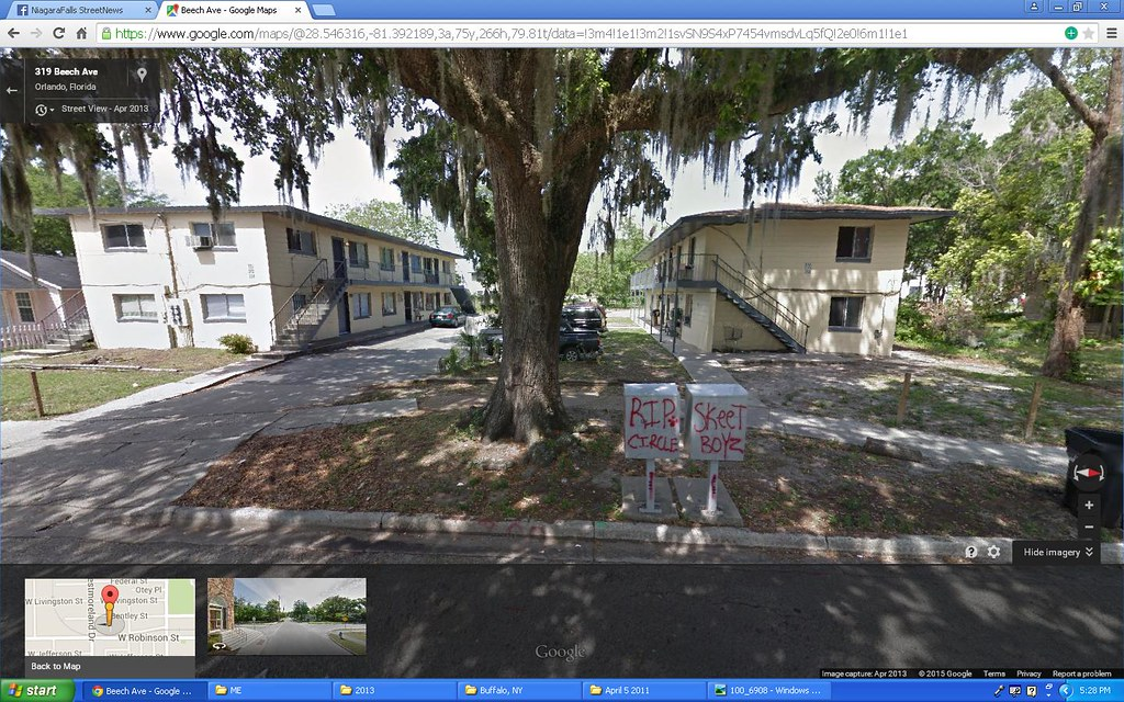 Blood graffiti in Google Maps Orlando | a google maps view o… | Flickr