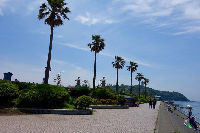 神奈川県藤沢市、江の島の入り口