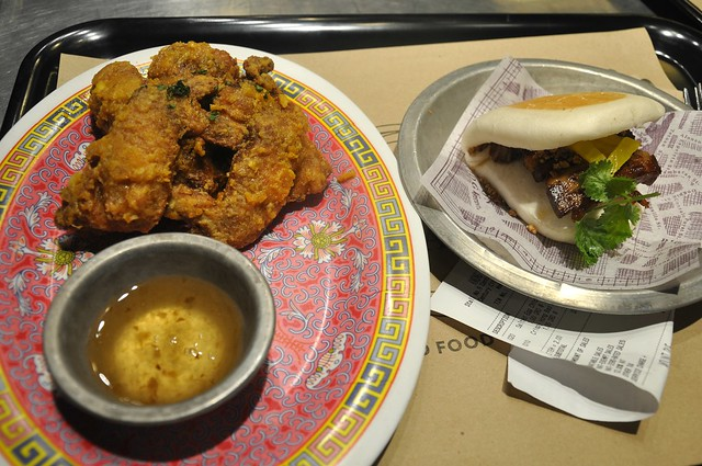 Salted Duck Egg Chicken and Cua Pao