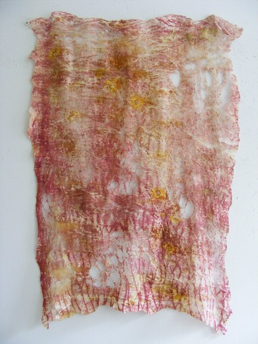 felt cloth, printed and stained. | by Meta vd Knijff