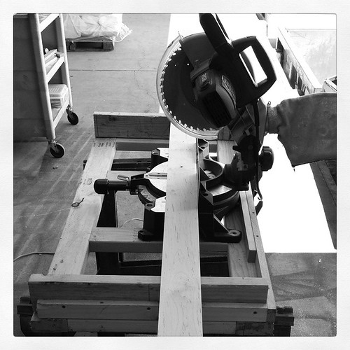 My new miter saw rig! #tools #carpentry #woodworking