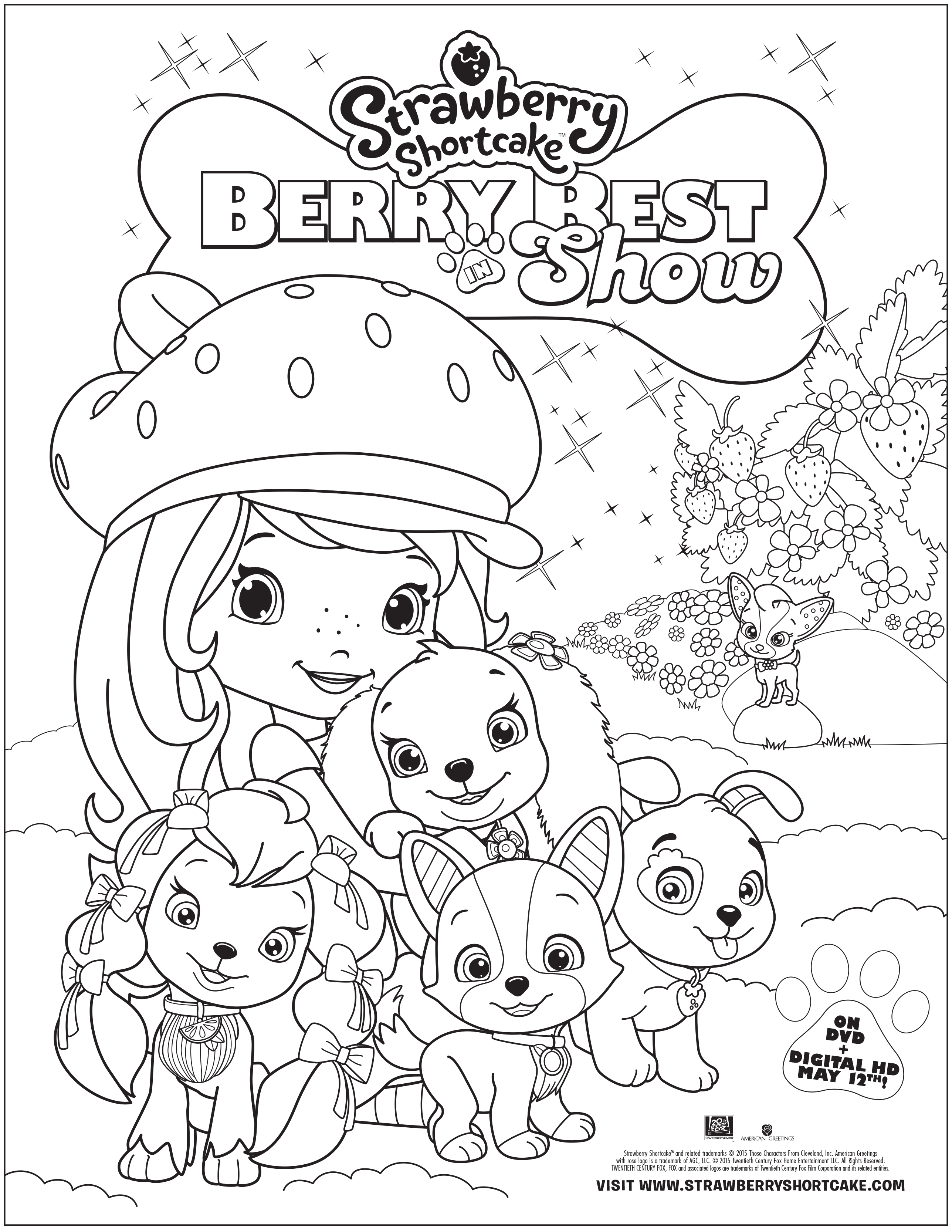 strawberry shortcake berry best in show activity sheets giveaway