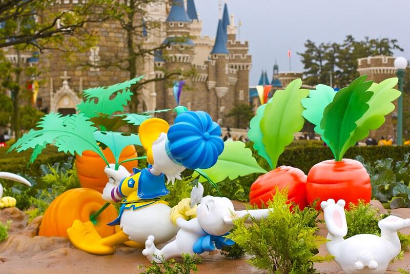donald duck easter celebration, pluto, disney, disneyland at easter, tokyo