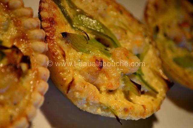 Tartelettes Poireaux-Crevettes © Ana Luthi Tous droits réservés 12