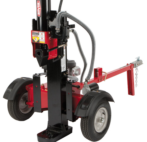 The 21 Ton Log Splitter offers a log capacity of 64cm in either horizontal or vertical operation