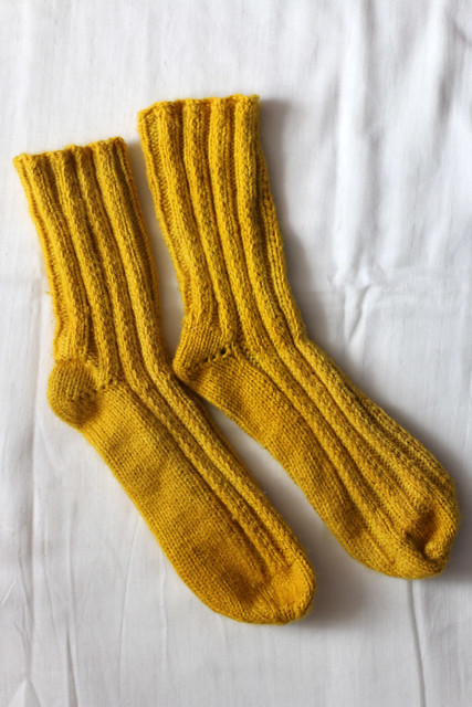 Turmeric Dyes Wool Socks
