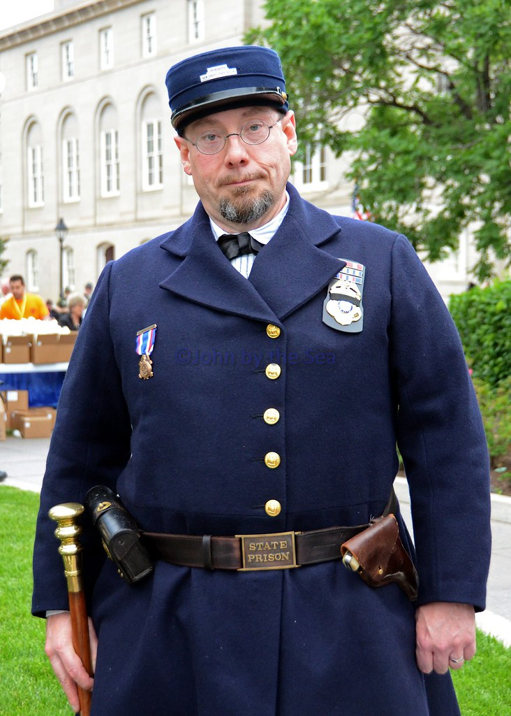 please leave a comment new jersey department of corrections officer in a replica historic uniform please leave a comment