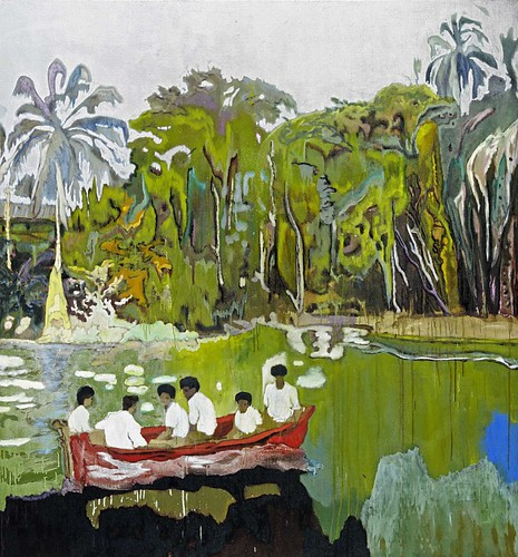 Peter Doig, Red Boat (Imaginary Boys), 2004, Oil on canvas