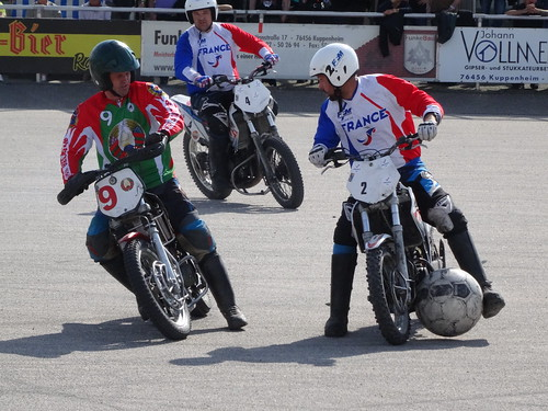 Motoball (motorcycle football): European Championship in Kuppenheim, Germany