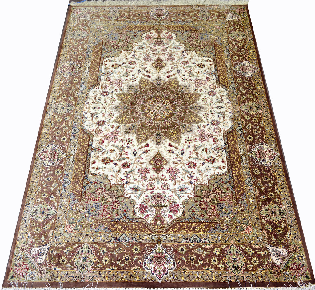 Master Piece Fabulous Qum Pure Silk Persian Rug 6x8 With