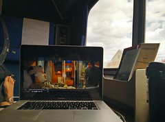 Watching Dajarleeing Limited on a train