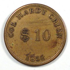 Col Hardy Crier token obverse