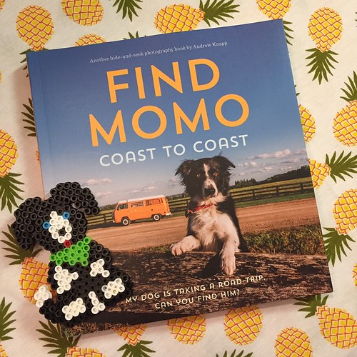 132:365 Perler Bead Momo is celebrating the arrival of #findmomocoasttocoast