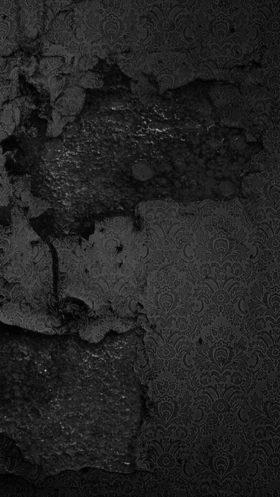 Smashed Black Wall Pattern Lock Screen 1440x2560 Samsung