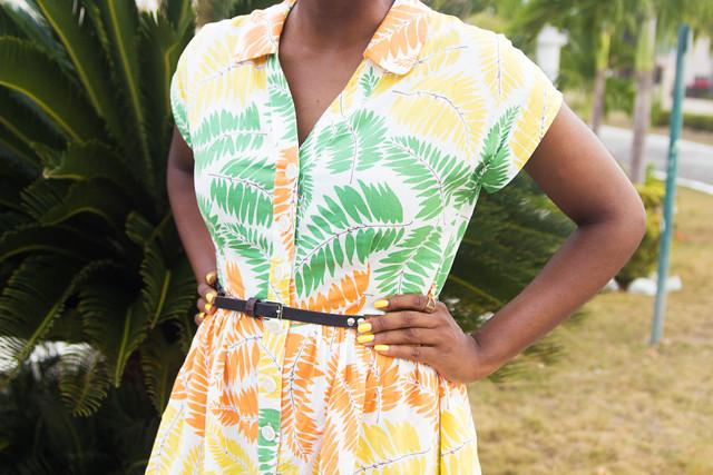 Boden Seatown Shirtdress Orange Fern
