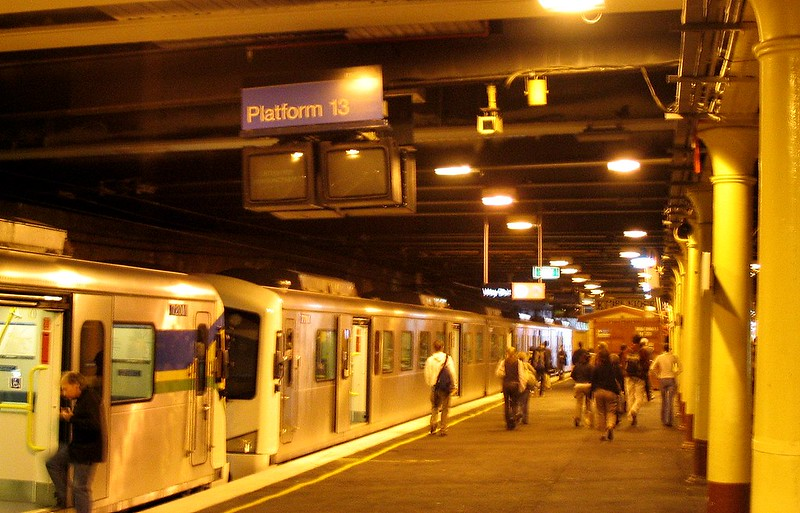 Platform 13, Flinders Street Station, May 2005