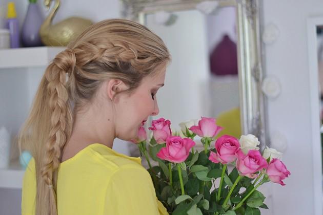 Eugli Fashionblogger Braid Flechtfrisur Frisuren Freitag II dutch braid into ponytail