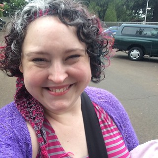 it helps to giggle when walking through the raindrops! and now I shall knit in the raindrops and hope the bus isn't too slow :D #vancouverwa