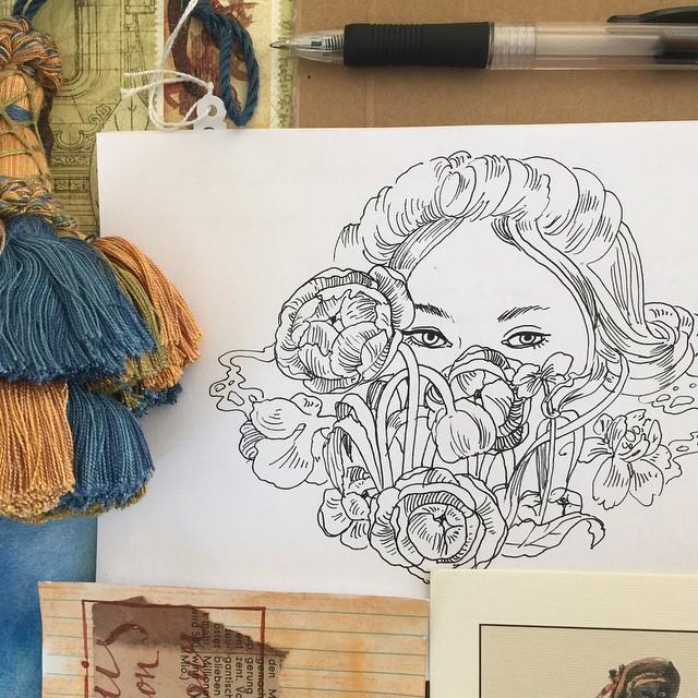Ranunculus love  #sketch #natalieratkovski #illustration