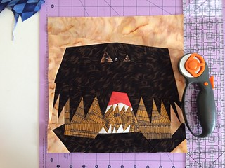 Project of Doom Quilt I'm making with pattern by Jennifer Ofenstein. See Fandom In Stitches for details