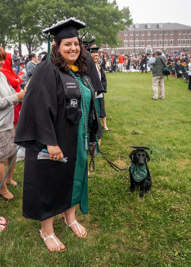 Graduate with Graduating Puppy.jpg | Penny Carlson | Flickr