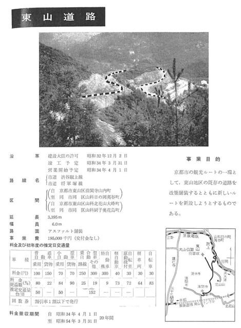 道路公団 東山道路(東山ドライブウェイ)