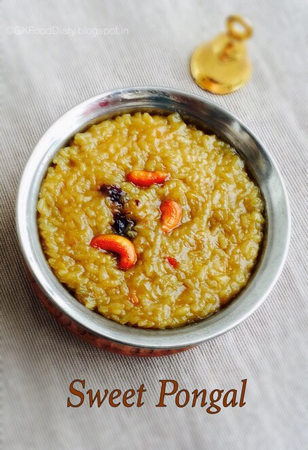 Sakkarai Pongal Recipe | Sweet Pongal Recipe